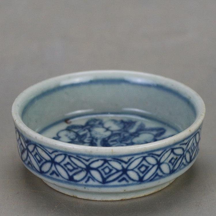 Chinese Ming Dynasty Wanli Time Blue & White Glazed