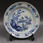 Chinese Qing Dynasty Kangxi Time Blue & White Glazed