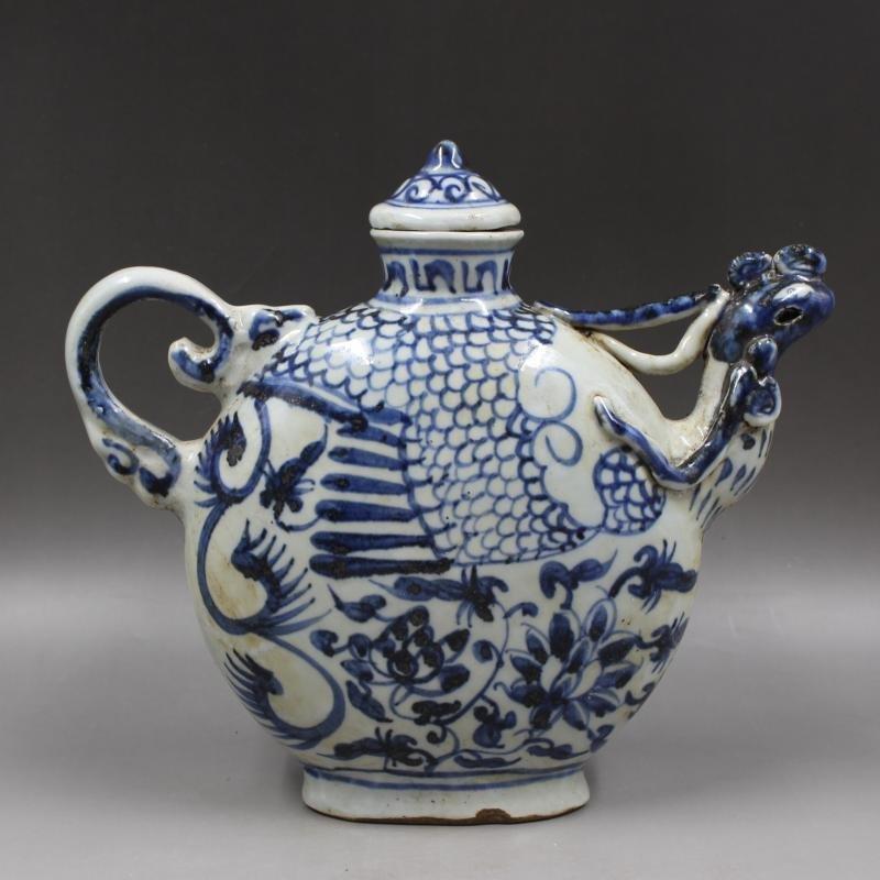 Chinese Qing Dynasty Tongzhi Time Blue & White Glazed