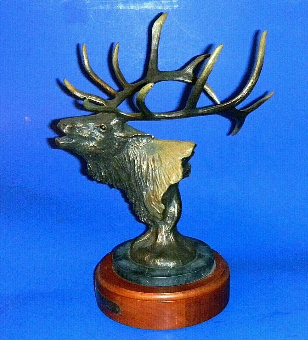 """Wapiti"" American Elk Bronzed Sculpture by Big Sky"