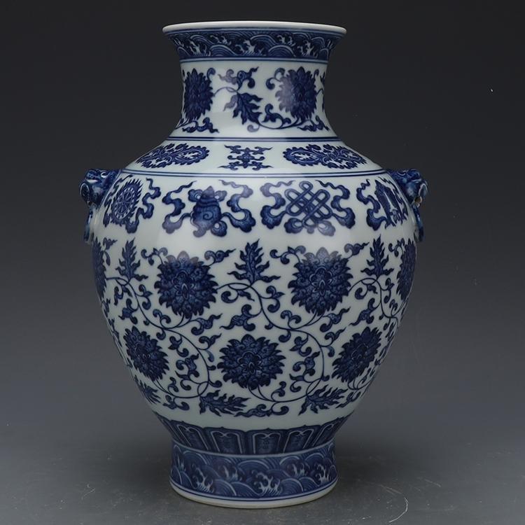 Chinese Qing Dynasty Qianlong Time Blue & White Glazed
