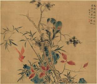 Qing dynasty flower painting by Hua Yan