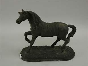 Antique Vintage Cast Bronze Metal Arabian Nights Horse