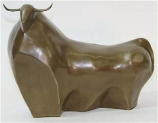 "Fernando Botero ""The Bull"" Art Bronze Sculpture,"