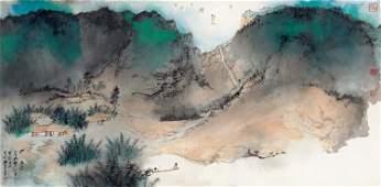 China landscape painting by Zhang Da Qian