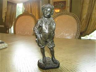 ANTIQUE BRONZE SCULPTURE SPORTSMAN PICCIOLE BRONZE