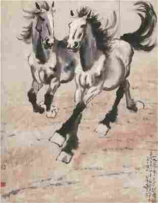 Horse painting by Xu Bei Hong