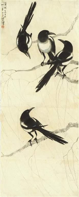 Bird painting by Xu Bei Hong