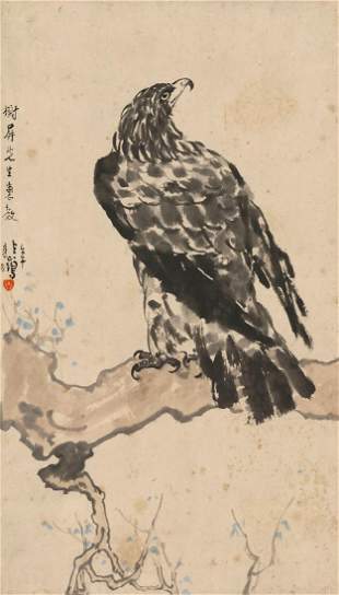Eagle painting by Xu Bei Hong