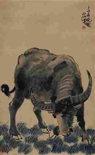 Buffelo painting by Xu Bei Hong