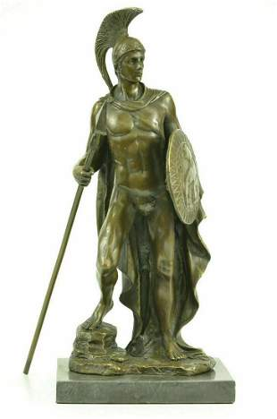 Classical Roman Warrior Nobleman Mili Statue Figurine