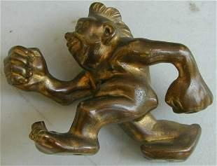 "Old Original Antique Bronze Sculpture ""MR. NATURAL"