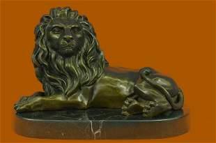 Signed Milo African Lion King Of Jungle Bronze