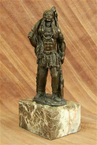 Male Native American Indian Warrior bronze Sculpture