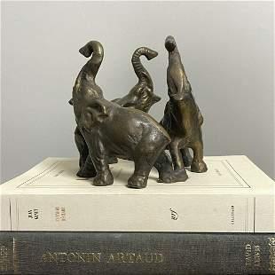 Victorian Bronze Elephant Sculpture