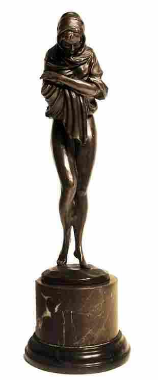 "Bronze Sculpture ""The Shawl"""