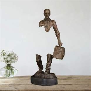 Bruno catalano bronze sculpture walking man statue home