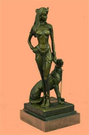 Bronze Sculpture Statue Sign Original Cesaro Egyptian
