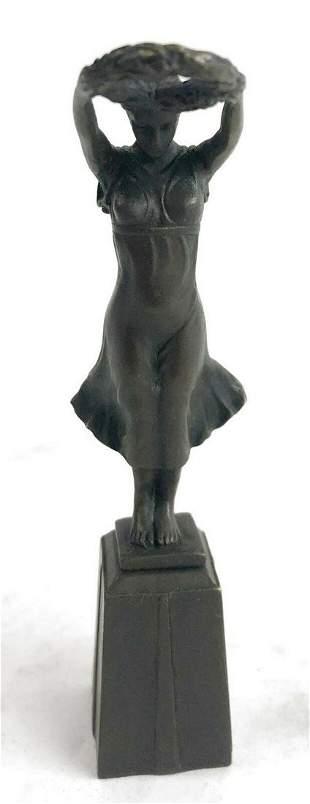 Barefoot Lady Bronze Sculpture Art Deco Nouveau Hot