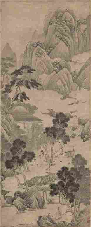 Ming dynasty landscape painting by You Qiu