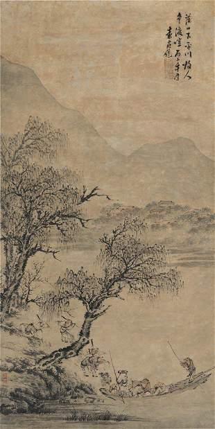 Ming dynasty landscape painting by Yuan Shang Tong