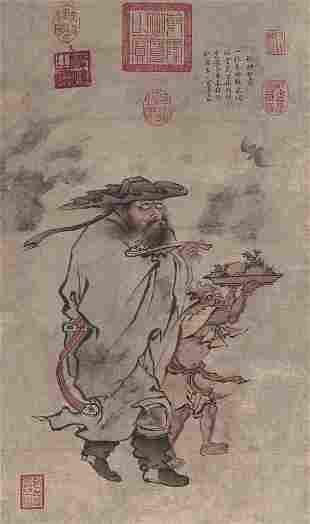 Ming dynasty character painting by Zhu Jian Shen