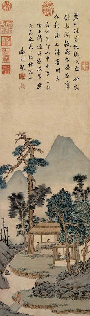 Ming dynasty landscape painting by Wen Zheng Ming