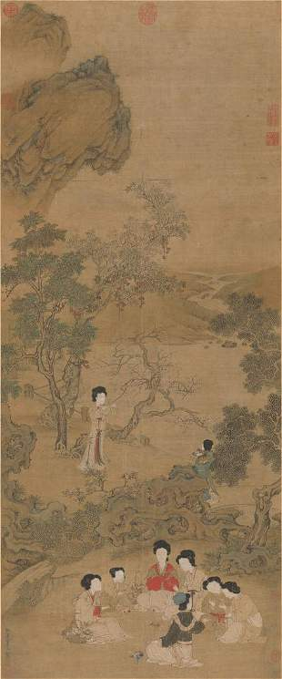 Ming dynasty ladies painting by Chou Ying
