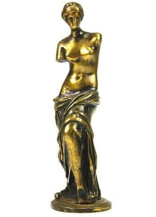 Antique Bronze Venus De Milo Sculpture