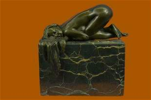 Bronze Sculpture Collectible Statue Art Nouveau Sensual