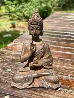 ANTIQUE VINTAGE CHINESE TIBETAN BRONZE SMALL BUDDHA