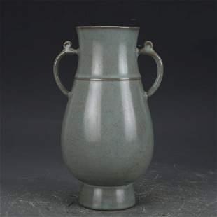 Song dynasty green glaze double eared pot