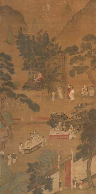 Ming dynasty landscape painting by Chou Ying