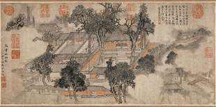 Ming dynasty building painting by Sheng Ying