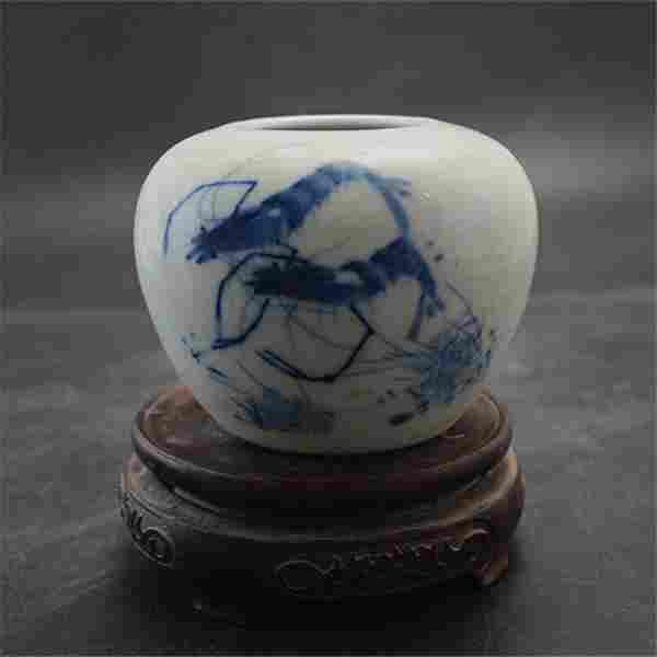 Chinese Republic of China Blue & White Glazed Porcelain