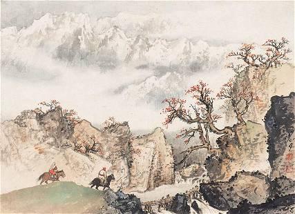 Mountain painting by Guan Shan Yue