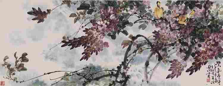 Flora with bird painting
