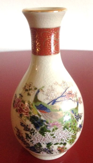 Satsuma vase with peacock scene made in japan miniature satsuma vase with peacock scene made in japan reviewsmspy