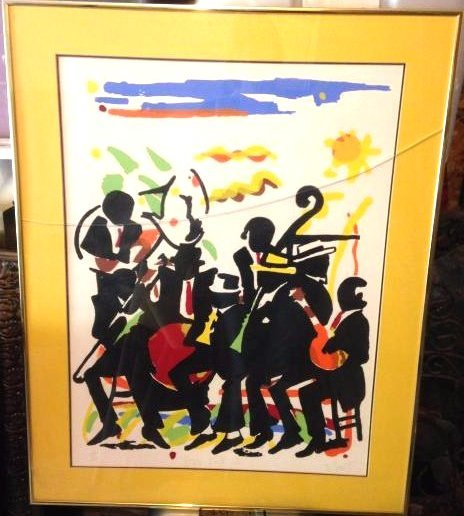 Jazz Festival Limited Edition Signed Print by D. Scott