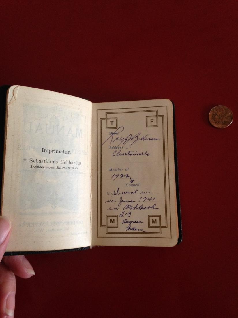 1940's Knights of Columbus Pocket Manual Prayer Book - 3