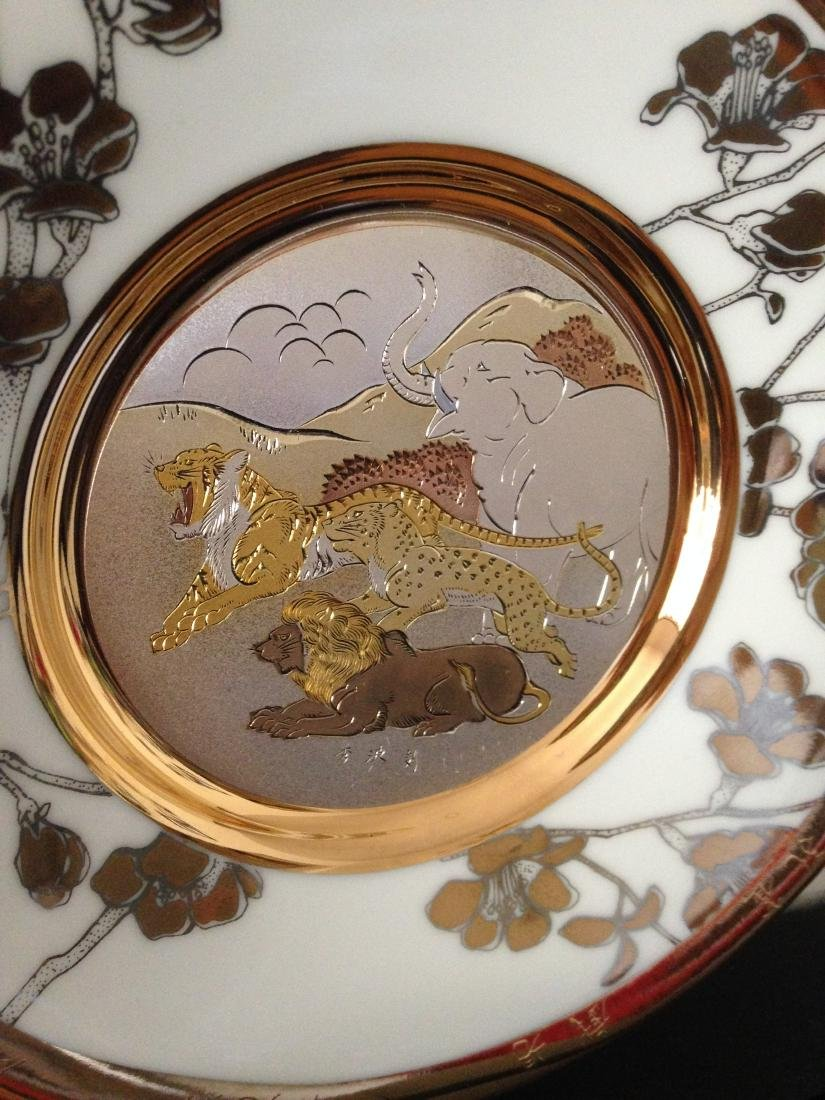 """Fortitude"" Chokin Plate by The Hamilton Collection - 4"