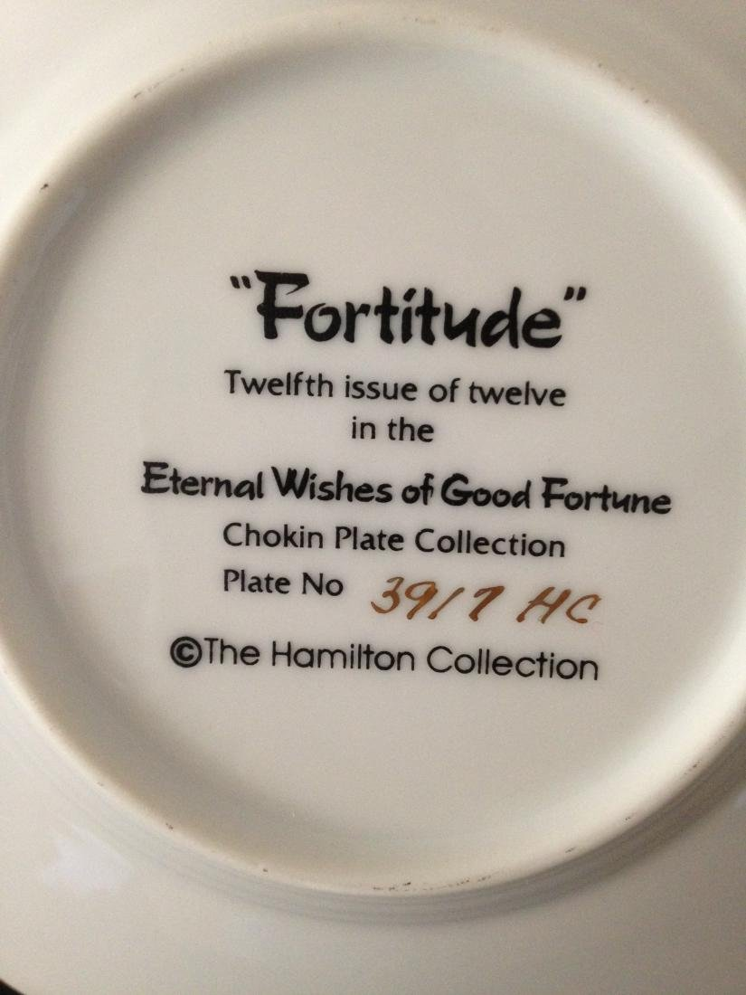 """Fortitude"" Chokin Plate by The Hamilton Collection - 8"