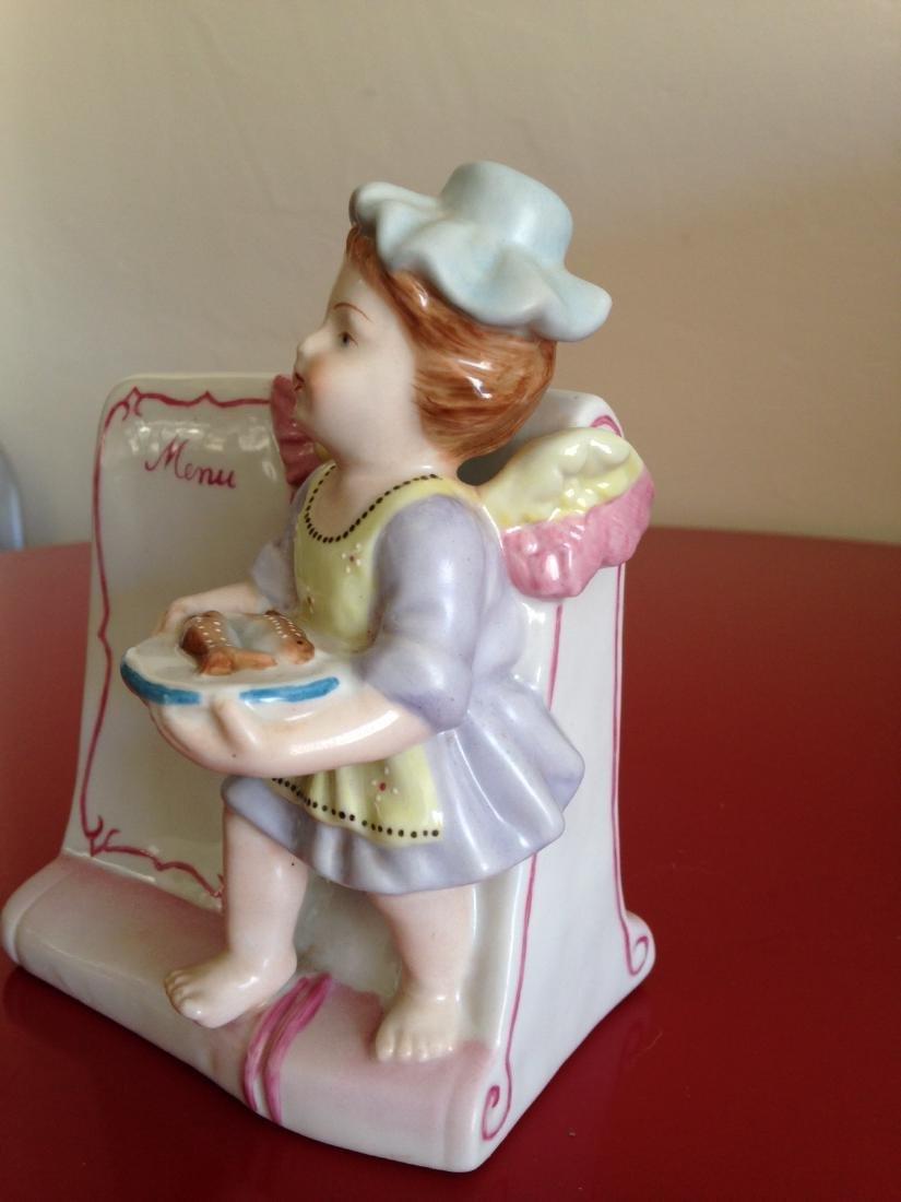Meissen-Like Porcelain Figurine w/ Cherub Holding Fish - 2