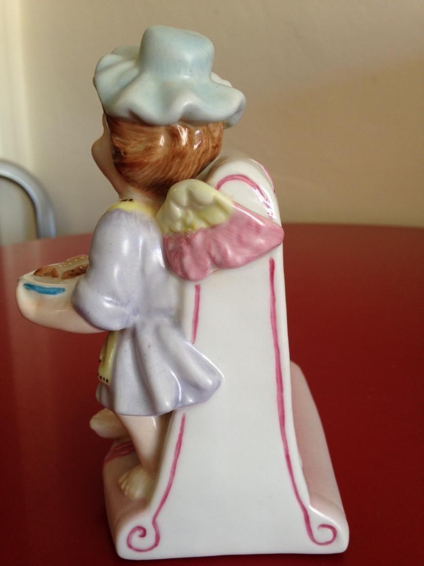Meissen-Like Porcelain Figurine w/ Cherub Holding Fish - 3