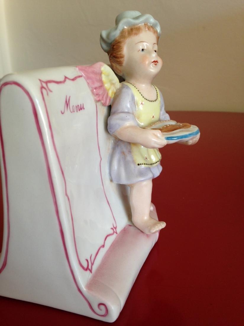 Meissen-Like Porcelain Figurine w/ Cherub Holding Fish - 6