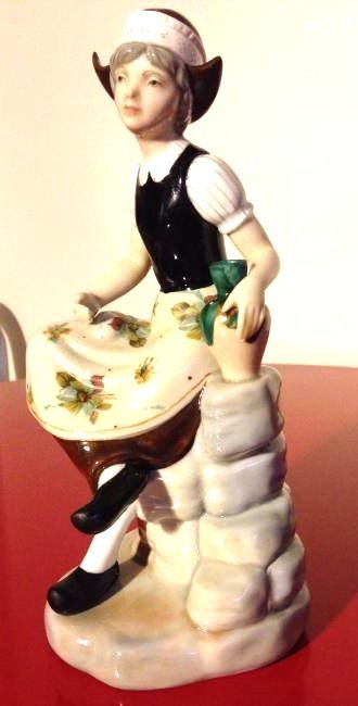Miguel Porcelain Statue of Woman Sitting, Made in Spain