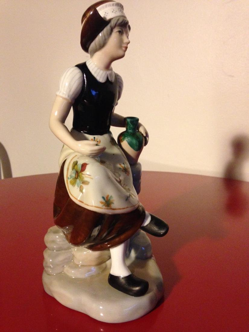 Miguel Porcelain Statue of Woman Sitting, Made in Spain - 2