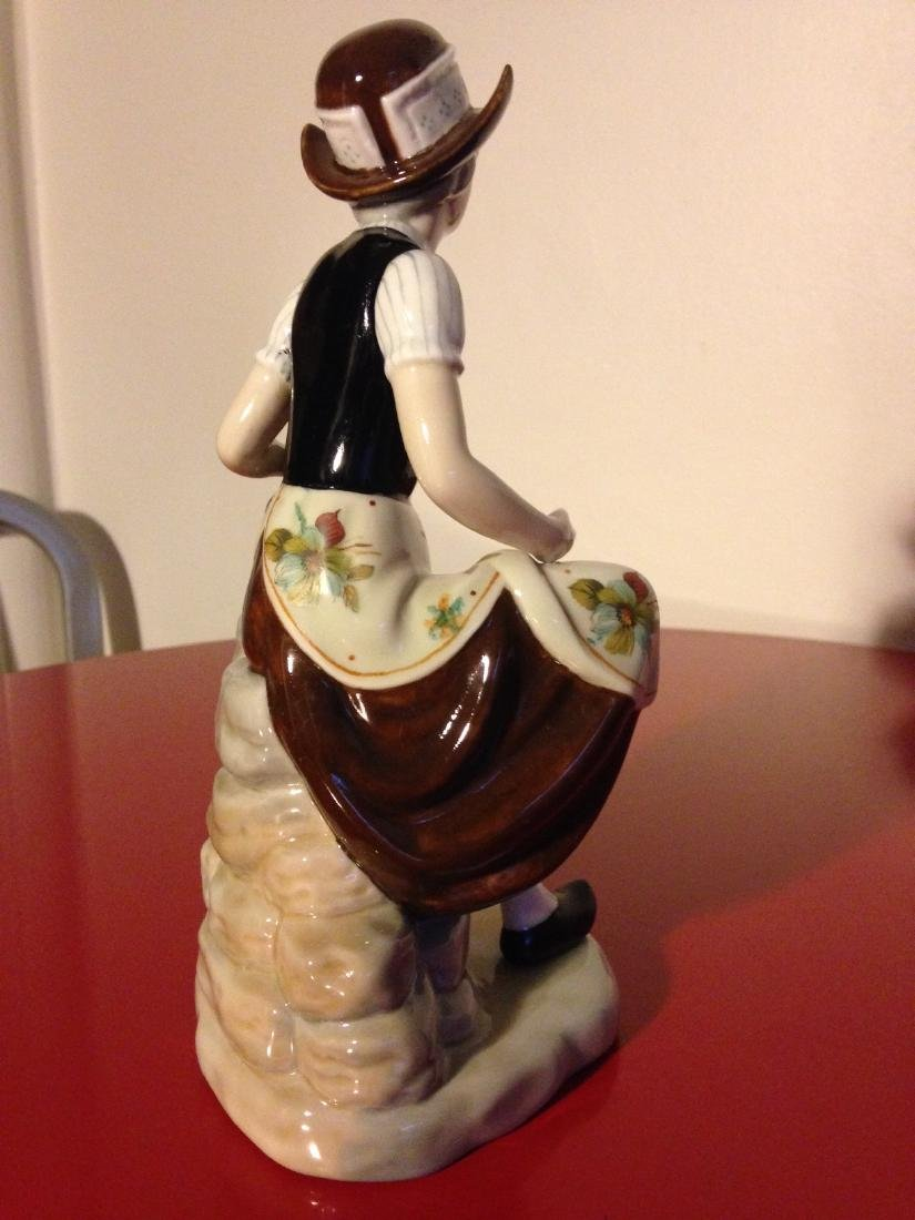 Miguel Porcelain Statue of Woman Sitting, Made in Spain - 3