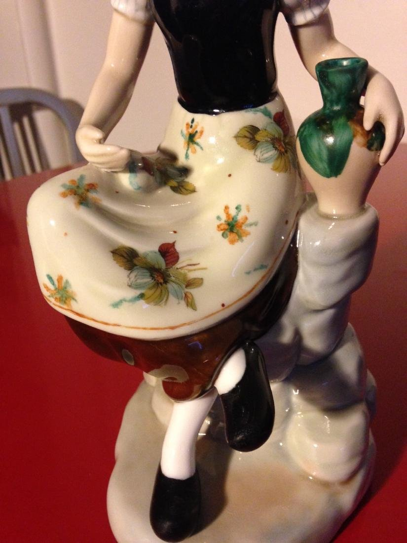 Miguel Porcelain Statue of Woman Sitting, Made in Spain - 6
