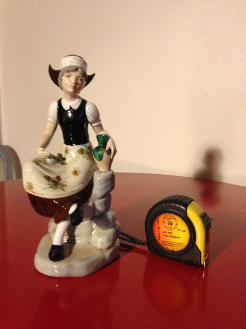 Miguel Porcelain Statue of Woman Sitting, Made in Spain - 9